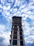 城市更新样品大厦在伊斯坦布尔 土地再开发复活节目  库存图片
