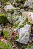 城市11月的公园假山庭园,中间欧洲 免版税库存图片