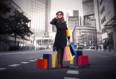 城市购物 免版税库存图片