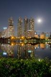 城市轻的夜 免版税库存图片