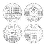 城市建筑学例证 免版税库存图片