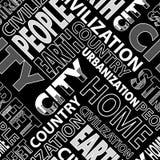 城市黑色 图库摄影
