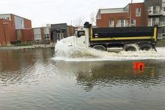 城市洪水-蒙特利尔-加拿大 免版税图库摄影