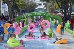 滑城市-西棕榈海滩 免版税库存图片