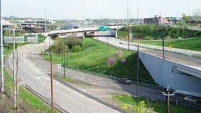城市绕高速公路 影视素材