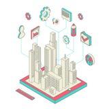 城市app 皇族释放例证
