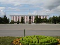 城市Barnaul,俄罗斯,阿尔泰 免版税库存照片