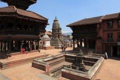 城市Bhaktapur尼泊尔 免版税库存图片