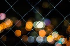 城市Bokeh在晚上 免版税图库摄影