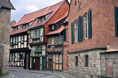 城市cityview德国中世纪quedlinburg 库存图片