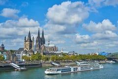 城市Cologn,德国的全景 库存照片