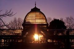 城市cristal de马德里palacio公园retiro 库存照片