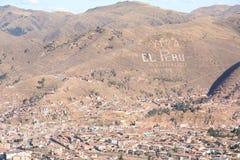 城市cusco全景 库存照片