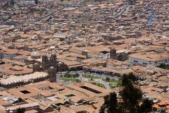 城市cuzco秘鲁 库存照片