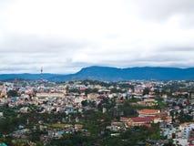 城市dalat越南视图 图库摄影