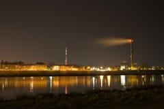 城市daugavpils晚上视图 免版税库存图片