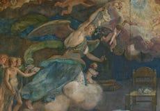 城市deatil佛罗伦萨壁画油漆 免版税库存照片