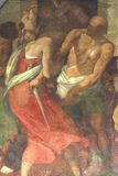 城市deatil佛罗伦萨壁画油漆 库存图片