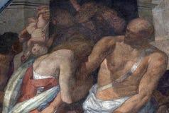 城市deatil佛罗伦萨壁画油漆 库存照片