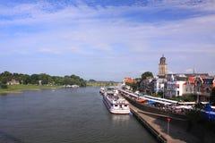城市deventer荷兰语 免版税库存图片
