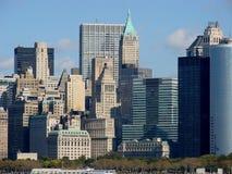 城市distri财务纽约 免版税图库摄影