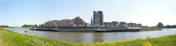 城市Doesburg,荷兰的全景 库存照片