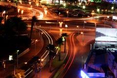 城市eilat晚上 免版税库存图片