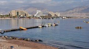 城市eilat港口 免版税图库摄影