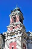 城市ellis大厅海岛纽约 库存图片