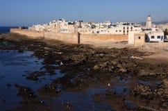 城市essaouira摩洛哥全景 免版税库存图片