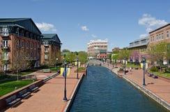 城市frederick河 免版税图库摄影