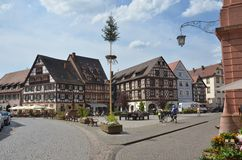 城市gengenbach schwarzwald 免版税库存照片