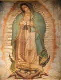 城市guadalupe玛丽・墨西哥绘画寺庙贞女 免版税库存照片