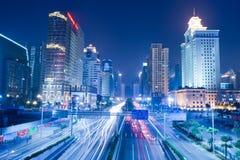 城市guanghzou晚上场面 免版税库存图片