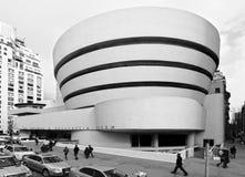 城市guggenheim博物馆纽约 免版税库存照片