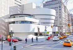 城市guggenheim博物馆纽约 免版税库存图片