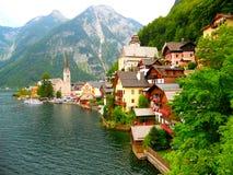 城市Helshtat的美丽的景色 库存图片