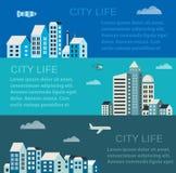 城市infographics 库存图片