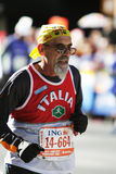 城市ing意大利马拉松新的赛跑者约克 图库摄影