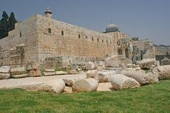 城市jerisalem老墙壁 图库摄影