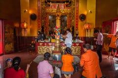 城市Juntaburi柱子寺庙  库存照片