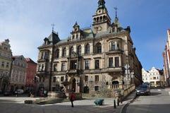 城市Klodzko,城镇厅老镇 库存图片
