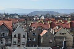 城市klodzko,老镇的波兰看法 库存照片