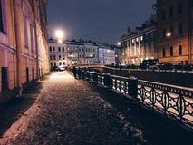 城市krilatskoe莫斯科晚上 免版税库存图片