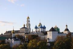 城市lavra posad sergiev sergius三位一体 库存照片
