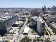 城市Los天使街市从市政厅看见了 免版税库存照片