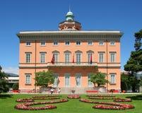 城市lugano瑞士 库存照片