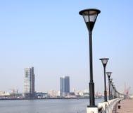 城市lujiazui海滨广场上海 库存照片