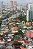 城市makati马尼拉pasig菲律宾河 图库摄影