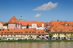 城市maribor斯洛文尼亚 免版税图库摄影